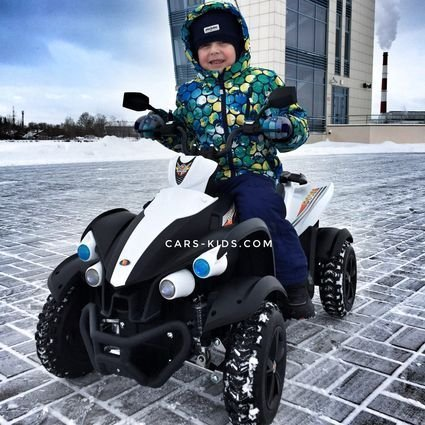 Электроквадроцикл Dongma ATV White(резиновые колеса, многорычажная подвеска, музыка) (Копировать)