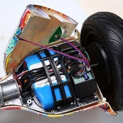 Гироскутер Smart Balance Фиолетовый Граффити 10,5 APP самобалансир (Samsung)