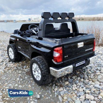 Электромобиль Toyota Tundra JJ2255 черный (двухместный, колеса резина, кресло кожа, музыка, комплектация без пульта/с пультом)