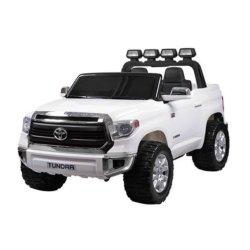 Электромобиль Toyota Tundra JJ2255 белый (двухместный, колеса резина, кресло кожа, музыка, комплектация без пульта/с пультом)