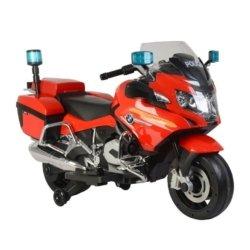 Электромотоцикл BMW R1200RT Police 12V - 212 красный (колеса резина, музыка, световые эффекты)