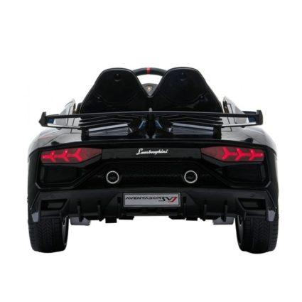 Электромобиль Lamborghini Avendator SVJ - HL328 черный (колеса резина, кресло кожа, пульт, музыка)